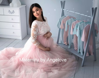 Blush Maternity Gown Etsy