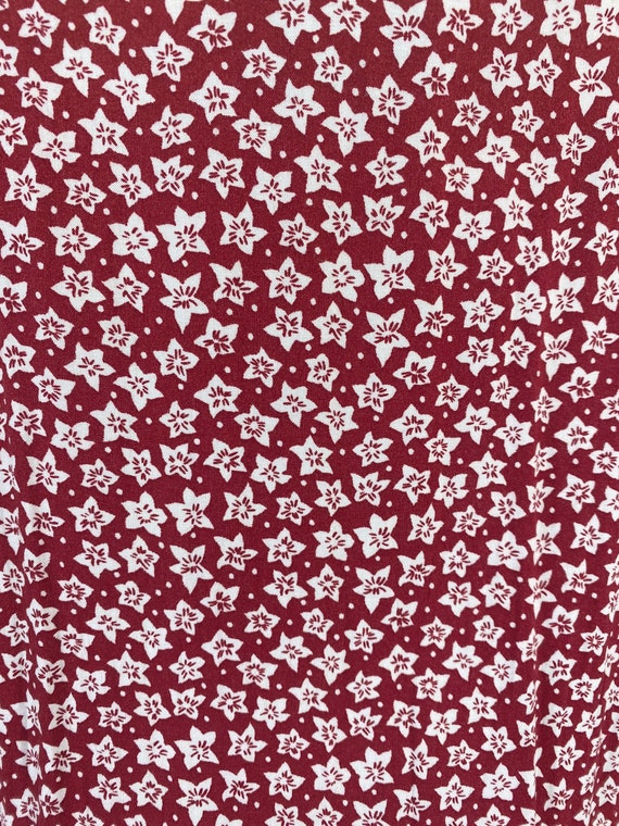 Vintage 1980's Dress Red Floral - image 3