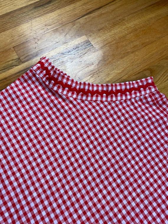 Vintage 1950's Circle Skirt- Red Gingham