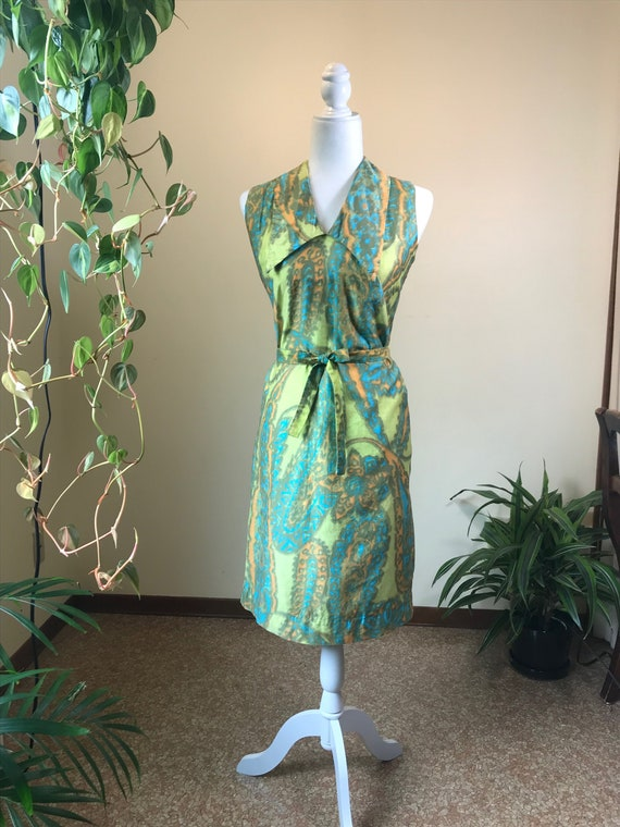 1960s Alfred Shaheen Dress