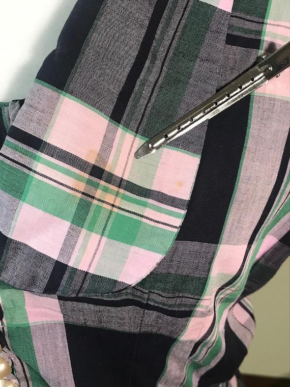 1950's Fit & Flare Plaid Sundress with Jacket - image 7