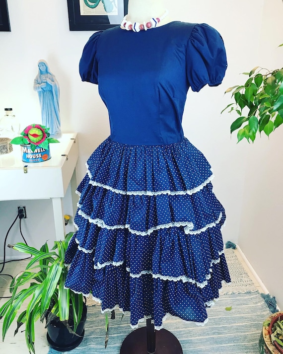 Vintage 1950's Square Dance Dress