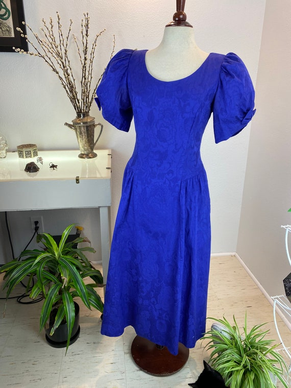 Vintage Volup Lanz 1980's Puff Sleeve Dress