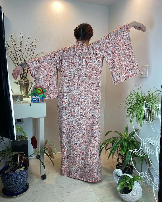 Vintage 1940s Kimono Robe / 40s kimono / 40s robe - image 5
