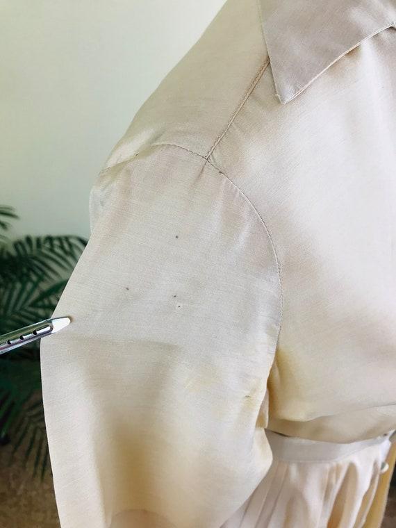 1950s Alfred Shaheen Pure Silk Shirt Dress - image 6