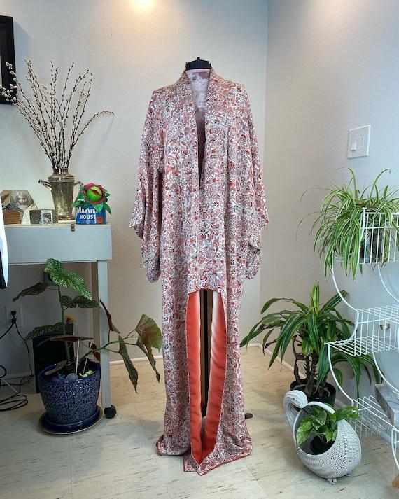Vintage 1940s Kimono Robe / 40s kimono / 40s robe - image 2