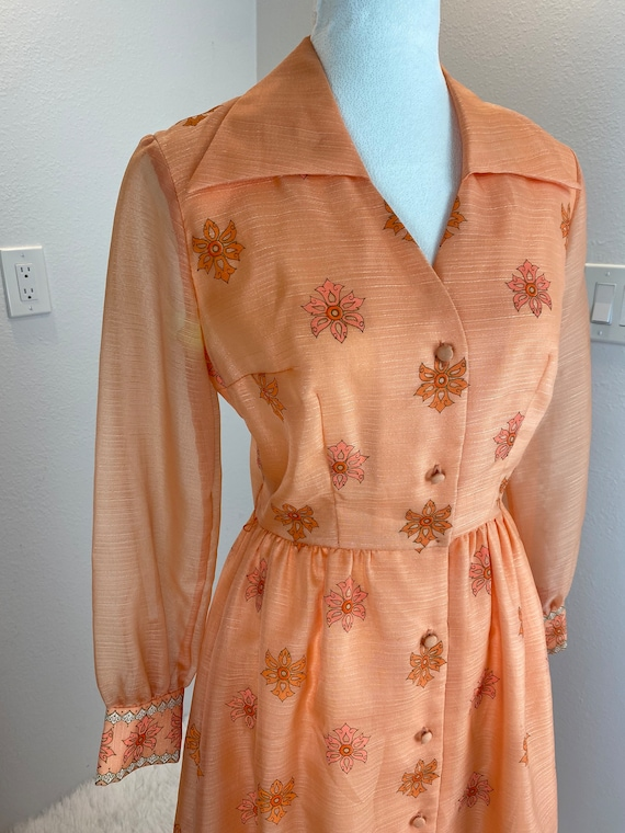Vintage 1970's Alfred Shaheen Maxi