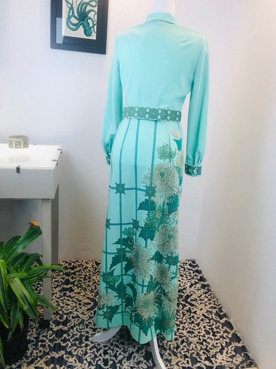 Vintage 1970 Alfred Shaheen Chrysanthemum Dress - image 6