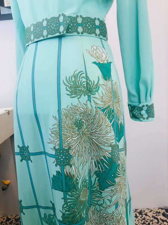 Vintage 1970 Alfred Shaheen Chrysanthemum Dress - image 4