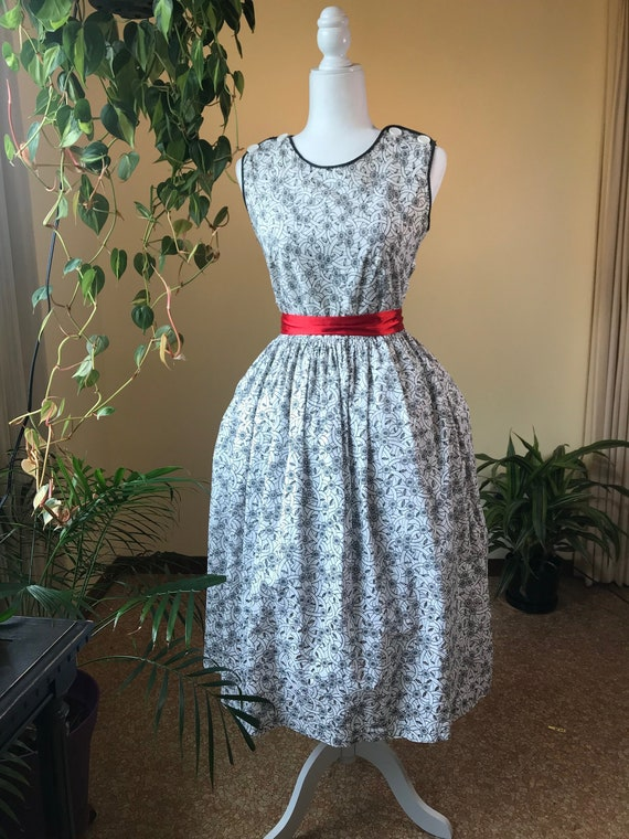 1950s/ 1960s Eyelet Summer Dress