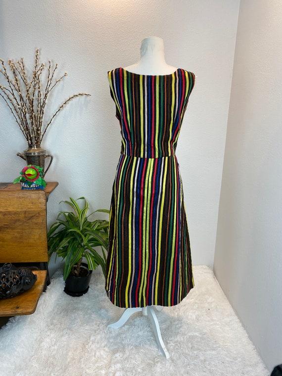 1950s Rainbow Dress / 50s Dress Rainbow Rhineston… - image 7