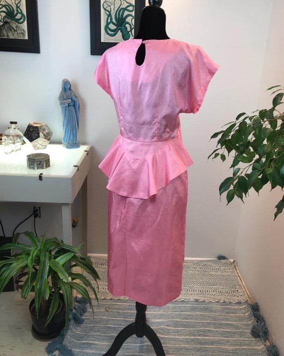 Vintage 1980s does 1940s-Bubble Gum Peplum blouse