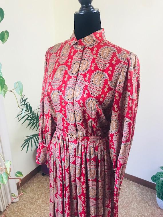 Vintage 1950s Fall Dress by Naturally Natlynn of N