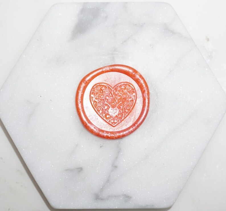 Heart Pre-made Wax Seals
