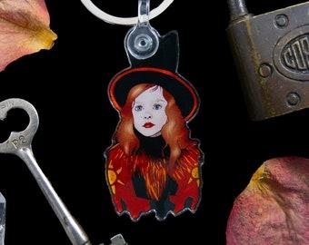 "Dani Dennison Keychain, Hocus Pocus Keychain, Halloween Keychain - Acrylic + Keyring (1.07"" x 2"")"