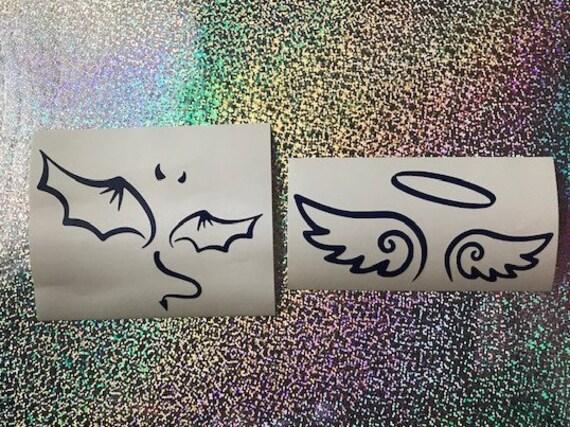 2 Good Omens Stickers Crowley /& Aziraphale set 2