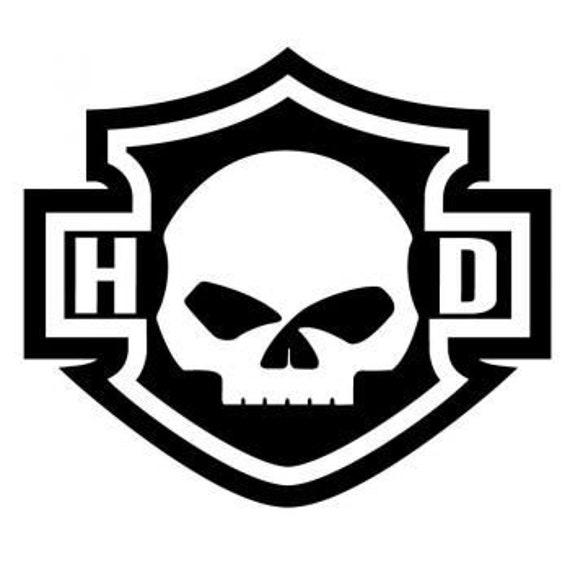 Harley Davidson Bar And Shield >> Harley Davidson Bar And Shield Skull Decals Biker Decal Motorcycle Decal Harley Skull Decal Helmet Decal 46 Colors Free Shipping