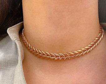 leaf choker orange leaf choker black velvet choker leaf necklace