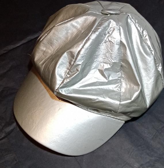 Silver 90s Baker Boy Hat, Festival, Raver, Hippie,