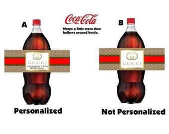 2 liter bottle label | Etsy