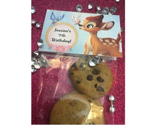 BAMBI PARTY FAVORS LOOT FAVOR BAGS FAVORS BABY SHOWER PINK BLUE GOLD SUPPLIES