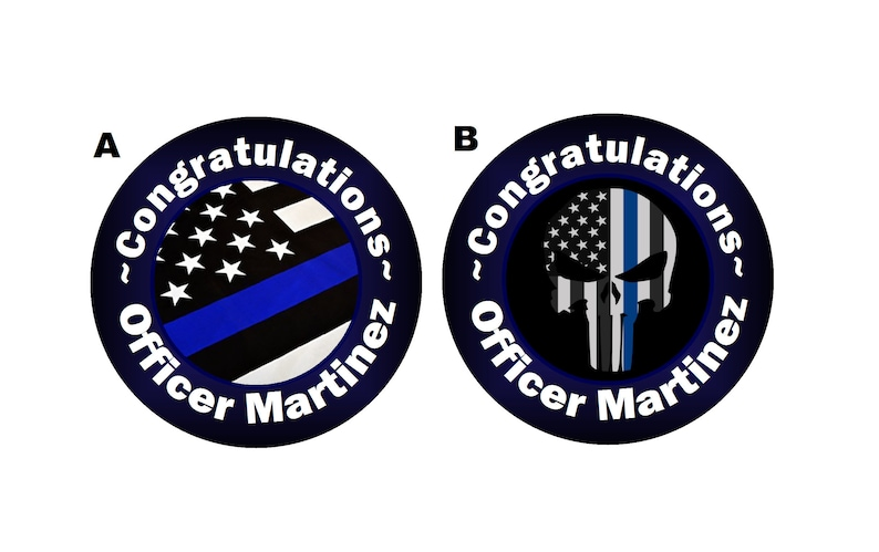 NYPD NEW YORK POLICE RETIREMENT PERSONALIZED PARTY ROUND STICKERS FAVORS LABELS
