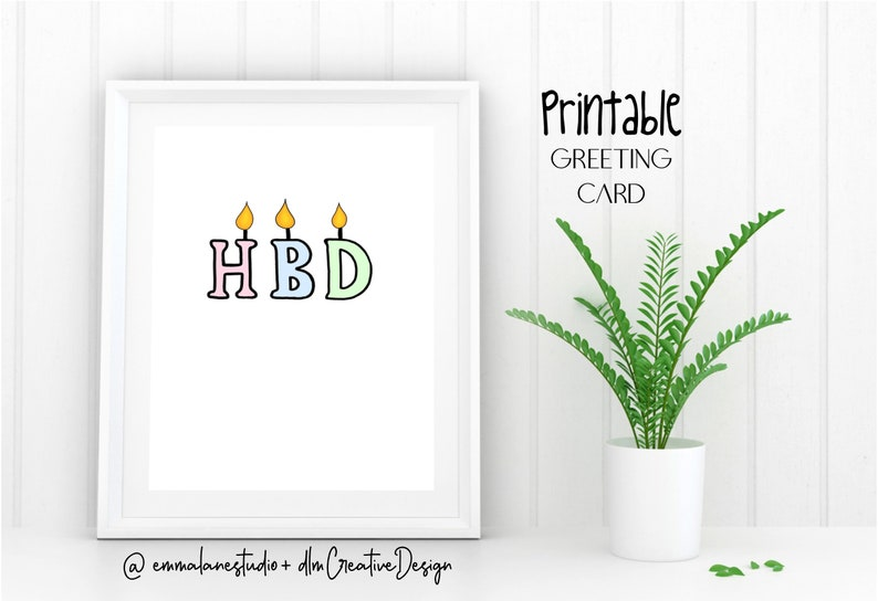 photograph relating to Birthday Candle Printable identified as Birthday Card HBD Satisfied Birthday Candle Pun Amusing Printable Electronic Down load