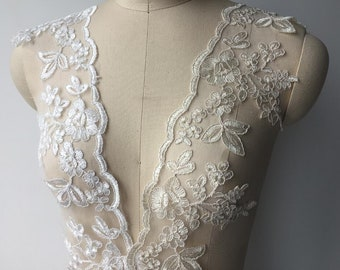 champagne gold threads lace trim bridal wedding lace trim for sale Per yard 90cm