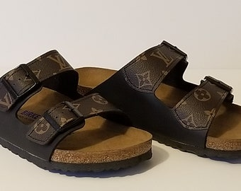 8b6cbecba8b Ladies Custom LV Birkenstock s- Vegan Arizona style