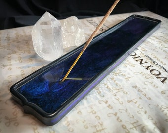 Midnight Blue Incense Holder || Colorshifting Blue & Purple || Navy Blue Incense Burner