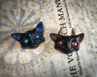 Random Color Mutant Black Cat Magnets || Alien Cat || Demon Cat
