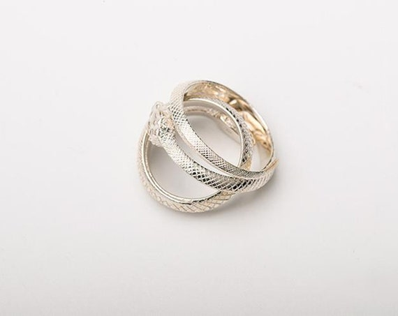 Snake Ring for Women|925 Sterling Silver Personalized Serpent Wrap Ring Adjustable