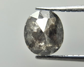Antique Pentagon Diamond 1.73TCW  10.2 x 9.2 x 2.4 L x B x H MM Gray Pentagon Full Cut Diamond Natural Diamond Real Diamond Gray Diamond