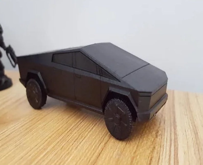 Tesla Pickup Cyber Truck 3D-Printed Car Model With turning ...
