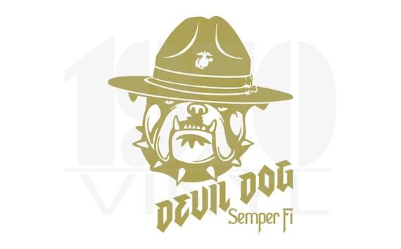 Officially Licensed USMC Hobbyist #19350 USMC Devil Dog Vinyl Decal United States Marine Corps Semper Fi