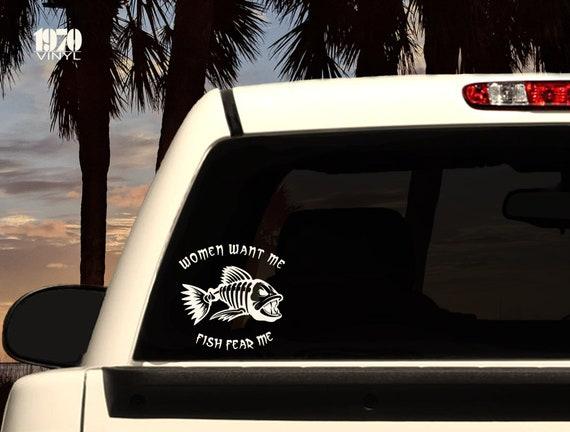 Fear Not Jesus Fish For Car Window Truck Laptop Vinyl Decal Sticker