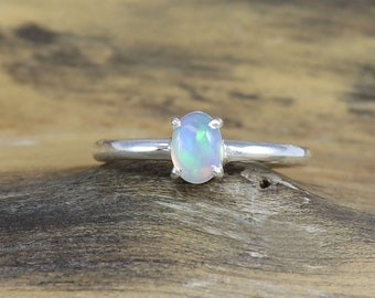 326540262 Natural Fire Opal Gemstone Ring, October Birthstone Ring, Opal Stone Ring,  Stacking Ring, Wedding Ring, Woman Jewelry Ring for 3 to 15