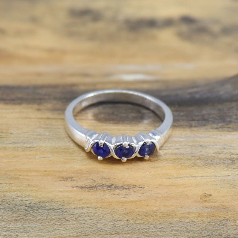 Hug and Kisses XOXO Ring 925 Sterling Silver Ring Natural Blue Sapphire Ring Anniversary Ring Size 3 to 15 Handmade Silver Ring