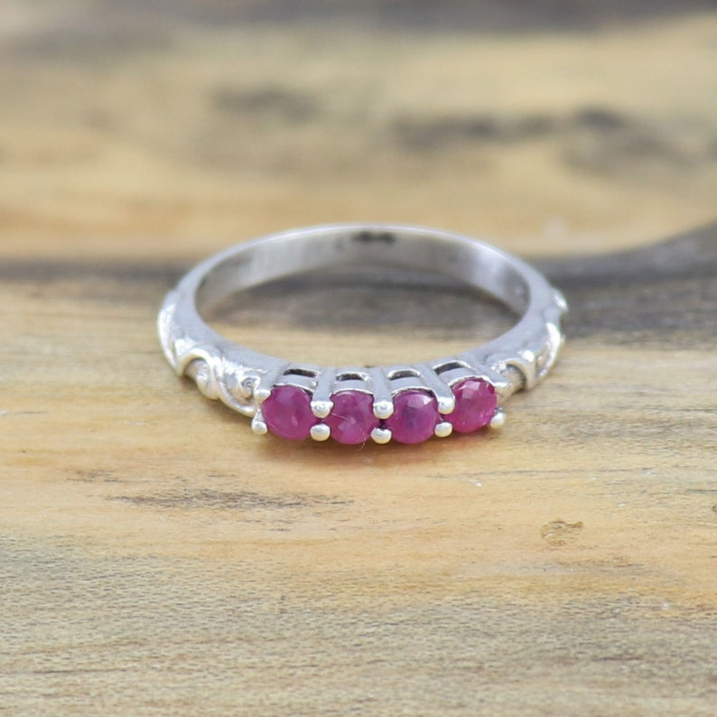Engagement Rings Wedding Ruby Ring Size 3-15 925 Sterling Silver Ring Natural Ruby Gemstone Ring Anniversary Rings Stacking Ruby Ring