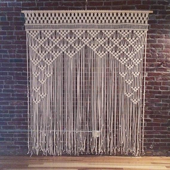 Macrame Crochet Curtain Bohemian Boho Decoration Wall Tapestry Party Accent
