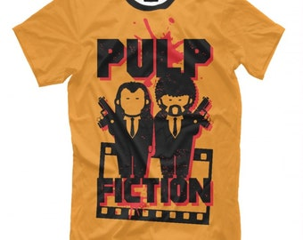 Men/'s Ladies T SHIRT funny DOG dogs PUP Fiction pulp spoof movie