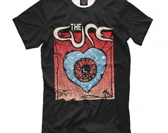 Tops & Tees The Cure T Shirt Rock Band English Music Gig 1980s Robert Tshirt Smith Festival Fashion Short Sleeve Sale 100 % Cotton Selling Well All Over The World