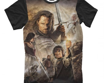 d34b8c214 The Lord of the Rings Graphic T-Shirt, Men's Women's Sizes
