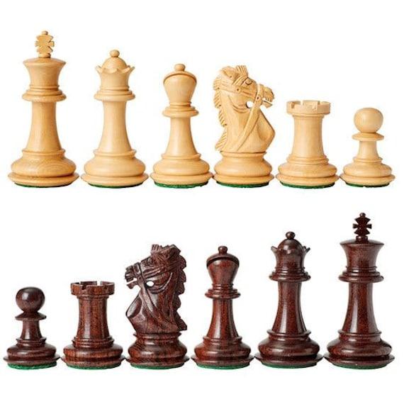 4 Queens Staunton Triple Weight Chess Pieces Full Set of 34 Orange /& Red