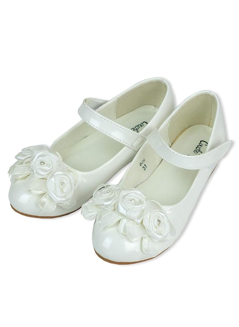 Flower Girls Ivory Formal Patent Shoes