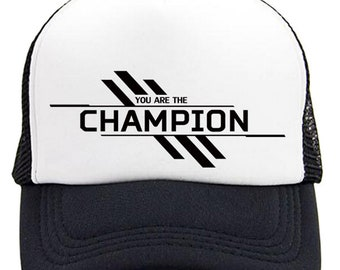 3a64fdfd25f Champion Hat Baseball Cap Fit S M   L XL You Are The Champion