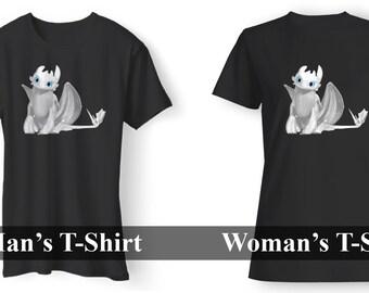 b97e2aa4a White Night Fury Men's / Women's T-Shirt