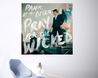 """At the Disco Pray For the Wicked Poster 32x32/"""" Album Cover Print Silk Panic"""