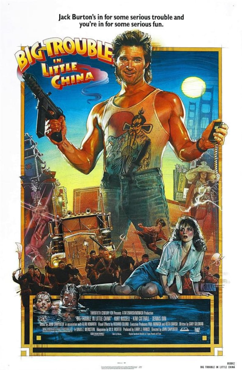 Fantasy Adventure Big Trouble in Little China Movie Poster 40x27 36x24 18x12/""
