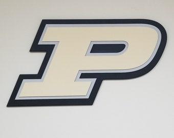 """The Motion P- Purdue University 28"""" W x 15"""" H"""